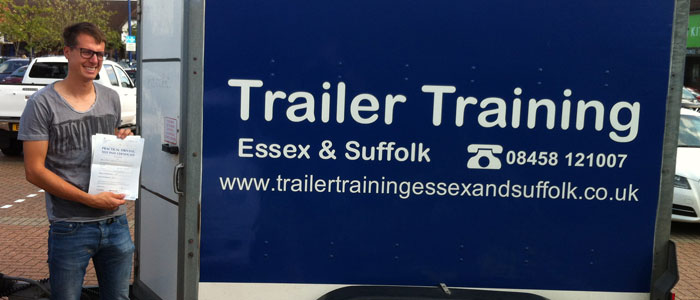 Trailer Training Passed Pupil Chelmsford